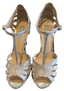 Betsey Johnson Silver Glitter Pumps
