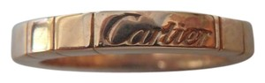 Cartier Cartier 18k Rose Gold Lanieres 3mm Band Ring Eu 51-us 5.5 w/box and cert.
