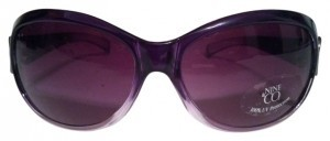 Nine & Co. Deep purple round sunglasses