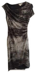 Helmut Lang short dress Grey Wrap Ruched on Tradesy