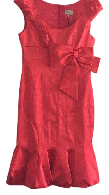 Item - Red Knee Length Cocktail Dress Size 10 (M)