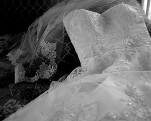 White Veil Lace Trim