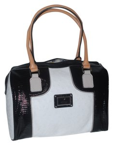 Guess Ostrich Satchel in stone/multi