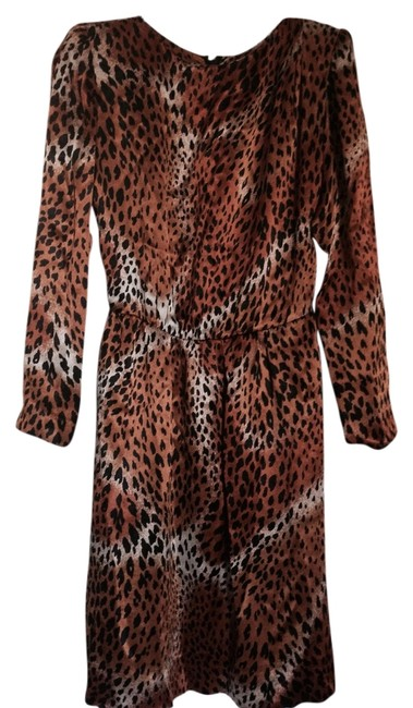 Yves Saint Laurent short dress Gold leopard on Tradesy