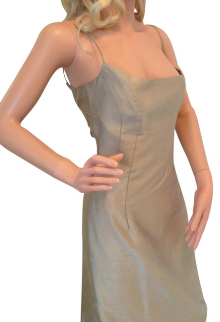 Item - Taupe Collection Silk Long Formal Dress Size 8 (M)