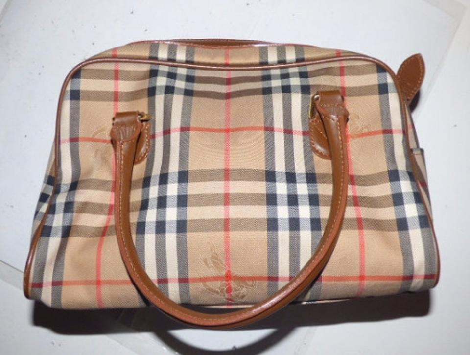 78e21a743f71 Burberry Mint Vintage Lots Of Pockets Early Looks Unused Lining Satchel in  camel leather Nova. 12345