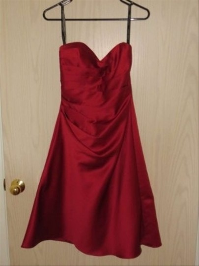 Alfred Angelo Satin Gown Formal Bridesmaid/Mob Dress Size 4 (S)