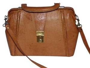 Fendi Mint Vintage Two-way Style Train Case/hat Box Removable Strap Satchel in Camel Leather
