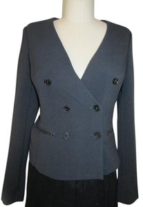 Gap Knit Double Breasted Zippers Navy Blue Blazer