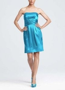 David's Bridal Malibu Satin 83707 Casual Bridesmaid/Mob Dress Size 4 (S)