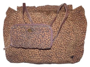 Bottega Veneta Xl Two Strap & Wallet Set Xl Zip Around Wallet Rare Hinged Top Satchel in Animal/Leopard print Silk & Leather