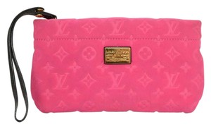 Louis Vuitton Monogram Wristlet Pnk Clutch
