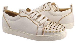 Christian Louboutin Nude Flats Bareta Spike 40 white Athletic