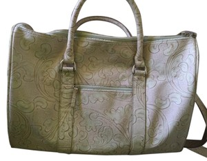 Wilsons Leather Tooled Leather Buff/Tan Travel Bag