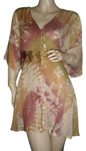 Passport short dress beige, mustard, mauve on Tradesy