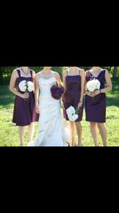 David's Bridal Purple Plum Bridesmaid Dress