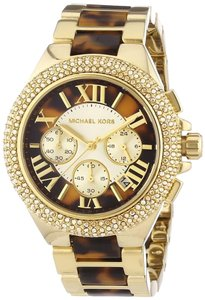 Michael Kors New Michael Kors Women's Gold-Tone Camille Chronograph Bracelet Watch MK5901