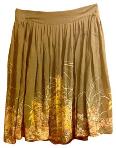 French Connection Floral Beads Sequin Silk Skirt