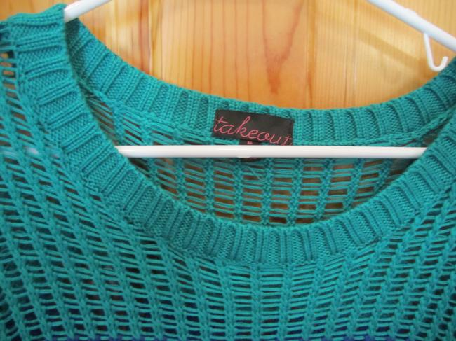 Takeout Open Weave Royal Teal Sweater