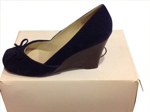 Steve Madden Wedge Navy Suede Wedges