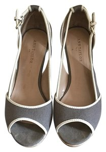 Ann Taylor Smokey Taupe Wedges