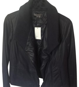 Brand New Vince Leather Jacket Navy Leather Jacket