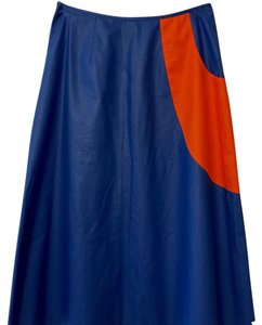 Meghan Skirt Royal blue with orange