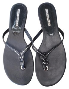 Via Spiga 3 pairs of sandals in black and silver Sandals