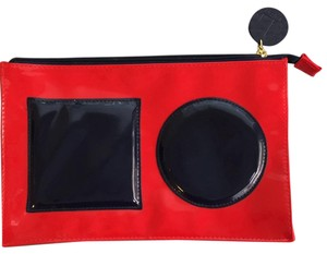 Lisa Perry Red and Navy Clutch