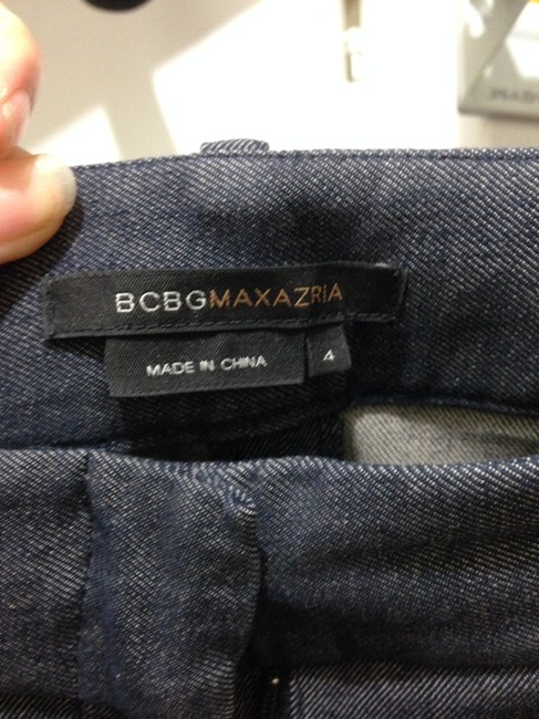 BCBGMAXAZRIA Straight Pants Dark blue / gray