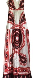 Red black white Maxi Dress by J.Crew