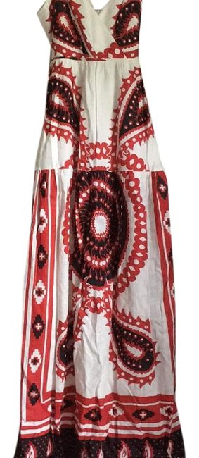 Item - Red Black White Unknown Long Casual Maxi Dress Size 4 (S)