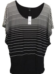 White House | Black Market Top Black, with stripes