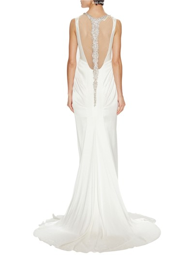 Pnina Tornai Jeweled Back Silk Charmeuse Gown Wedding