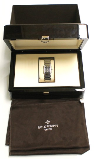 Patek Philippe Ladies Patek Philippe Twenty-24 Stainless Steel Slate Diamond Watch 4910/20G-011