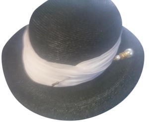 frank olive pewter grey hat with white band