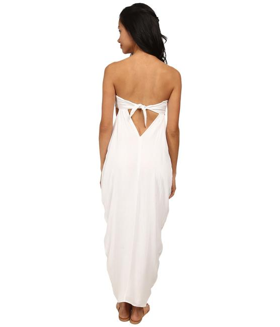 white Maxi Dress by Mara Hoffman Embroidered Maxi Long Skirt Bustier