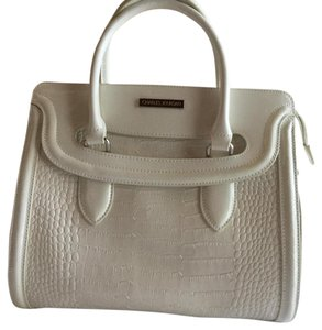 Charles Jourdan Satchel in White
