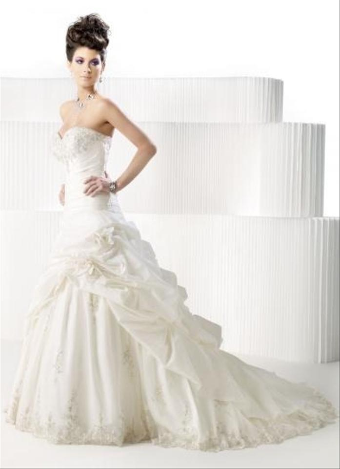 Private Label by G Ivory/Silver Satin 1383 Feminine Wedding Dress ...