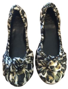 Tory Burch Black/Beige/Gold Flats