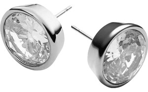 Michael Kors Michael Kors Brilliance MKJ1093 Silver MK Logo Crystal Stud Earrings