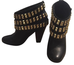 Betsey Johnson Black and gold Boots