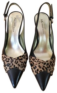Anne Klein Leopard Calf Hair Black/Leopard Pumps