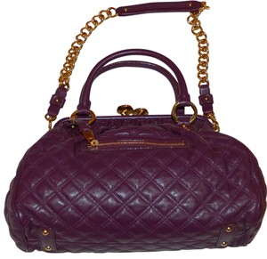Marc Jacobs Quilted Satchel in Aubergine