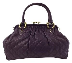 Marc Jacobs Stam Satchel in Aubergine