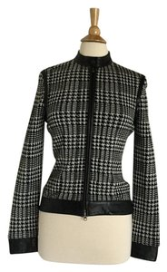 Classic Entier Wool Jacket Leather Sweater