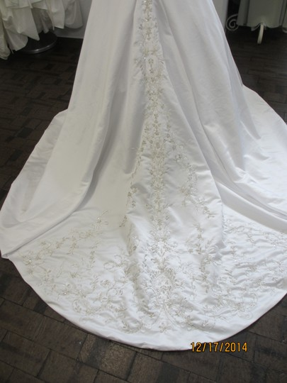 Kenneth Winston White Satin 1452 (134l) Formal Wedding Dress Size 16 (XL, Plus 0x)