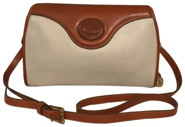 Item - Vintage Awl White Brown Leather Cross Body Bag