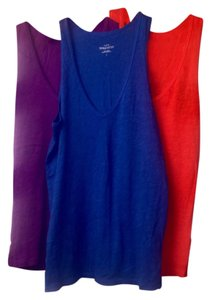 J.Crew Top Red/royal blue/purple