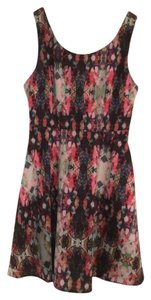 Ladakh Pattern Skater Fun Exposed Zipper Dress